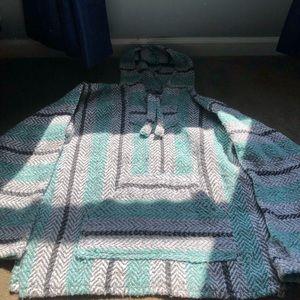 Sweaters - Baja Joe drug rug/ teal